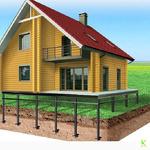 Занимаемся установкой свайно-винтовых фундаментов для дач и загородных домов.